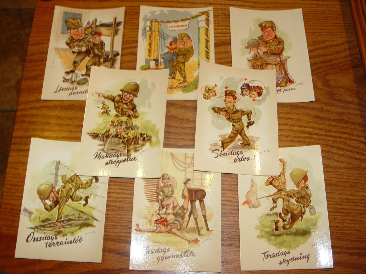 World War One Comic                                         German Military Postcards by                                         STEFF