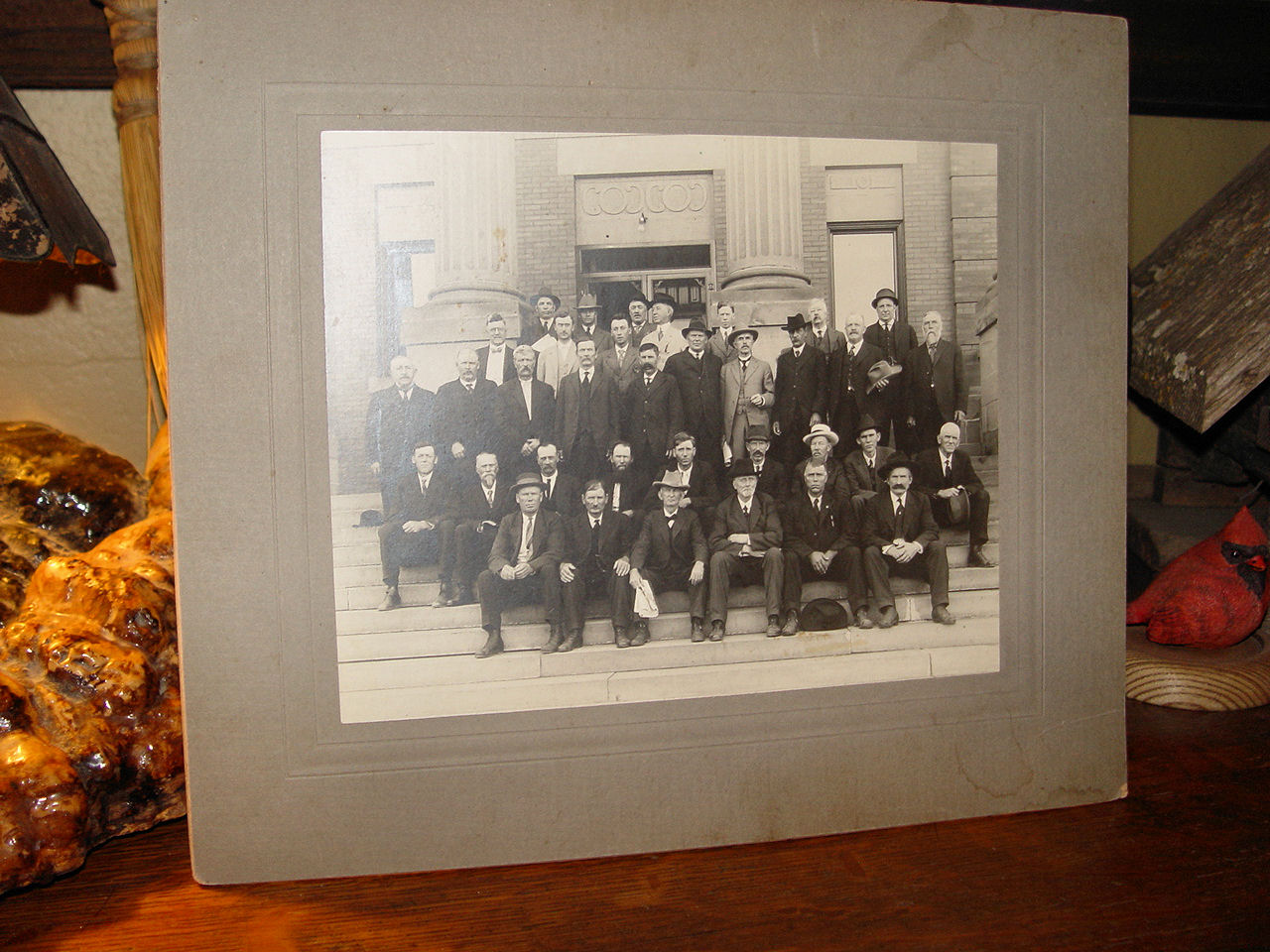 Large Cabinet                                                         Photo Prominent                                                         Clay County Iowa                                                         men Kinney &                                                         Detweiler                                                         Architecture