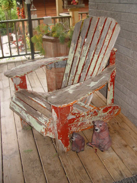 Original c. 1930's Antique                                         Adirondack Chair