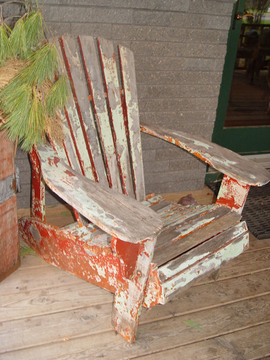 Primitive                                                           country                                                           Original c.                                                           1930's Antique                                                           Adirondack                                                           Chair