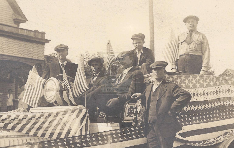 Rare                                                         historical 4th                                                         of July Bemidji                                                         Minnesota                                                         original                                                         photograph ~                                                         first Fire Truck                                                         and driver Bill                                                         Sprague