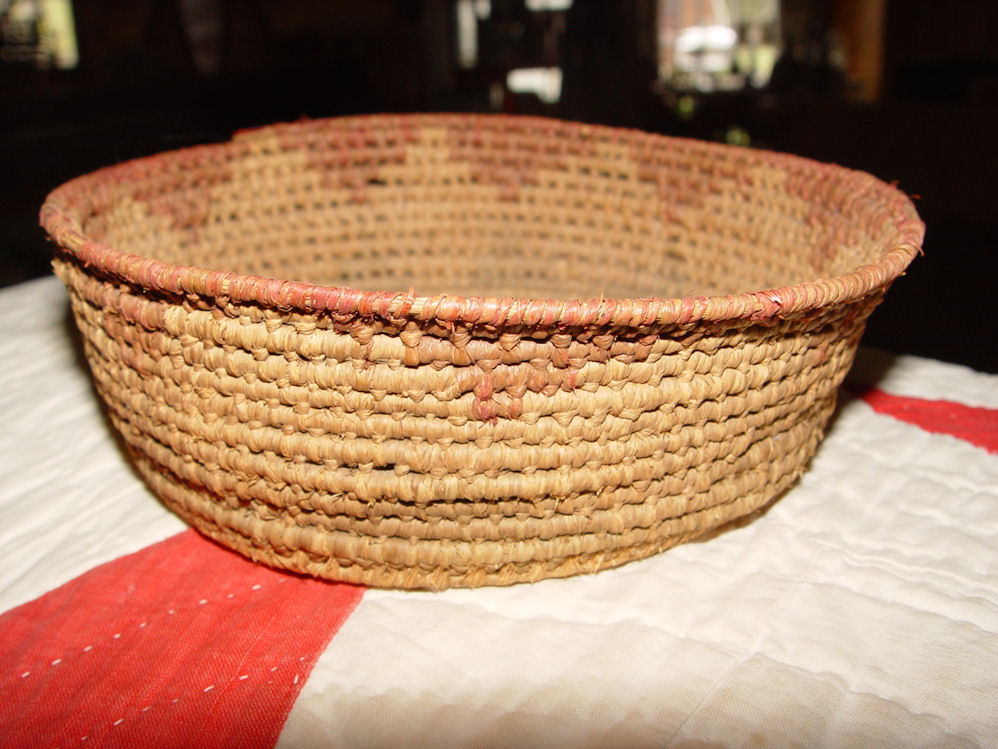 Southwestern Native                                         American Coiled Root Basket                                         Apache, Papago & Pima