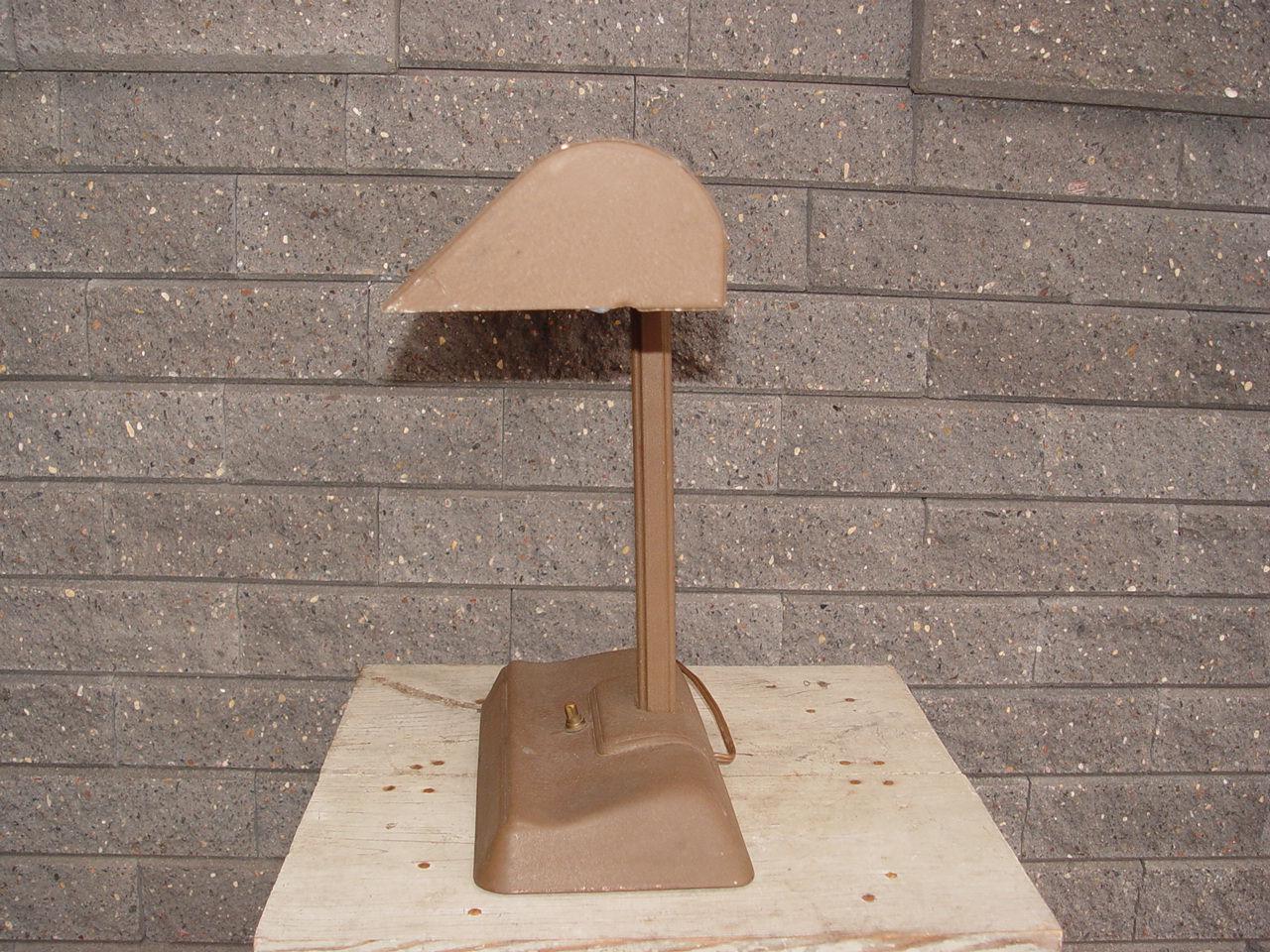 Vintage Mid                                         Century Art Deco Industrial Desk                                         Lamp 1920's