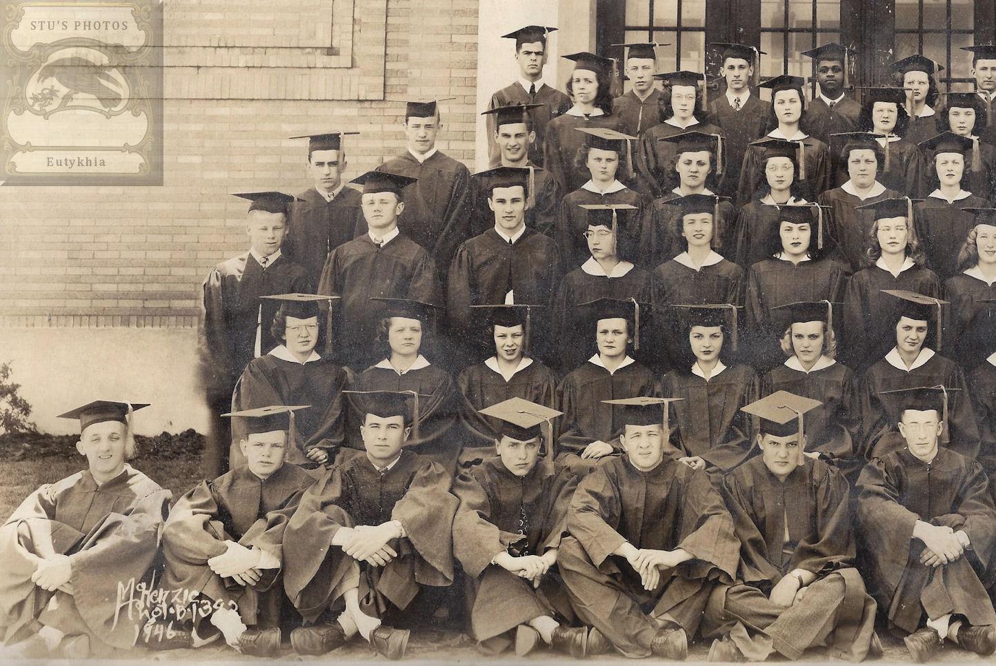 Morgan                                                           Park High                                                           School in                                                           Duluth, MN ~                                                           1946 Original                                                           Graduation                                                           Alumni
