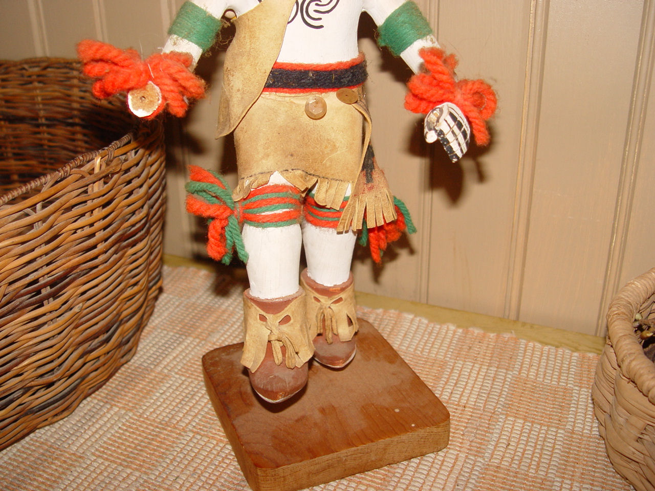 "Circa 1960s -                                         70's, Fine hand carved and                                         painted ""Butterfly""                                         doll ~ Signed Delbert Smith"