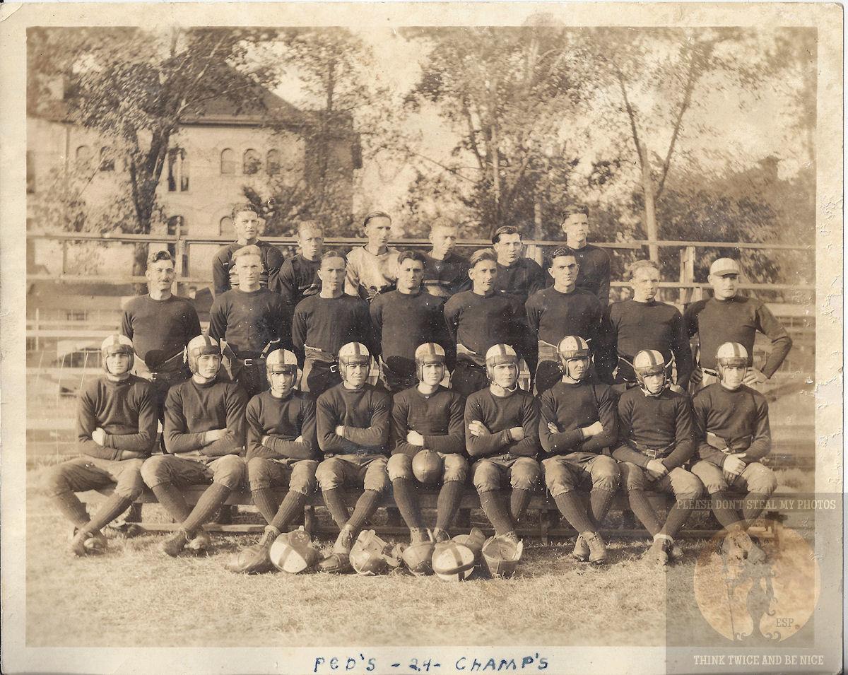 Orig Photograph                                                         Ped's 1924                                                         Football                                                         Champions                                                         Bemidji Mn.                                                         College