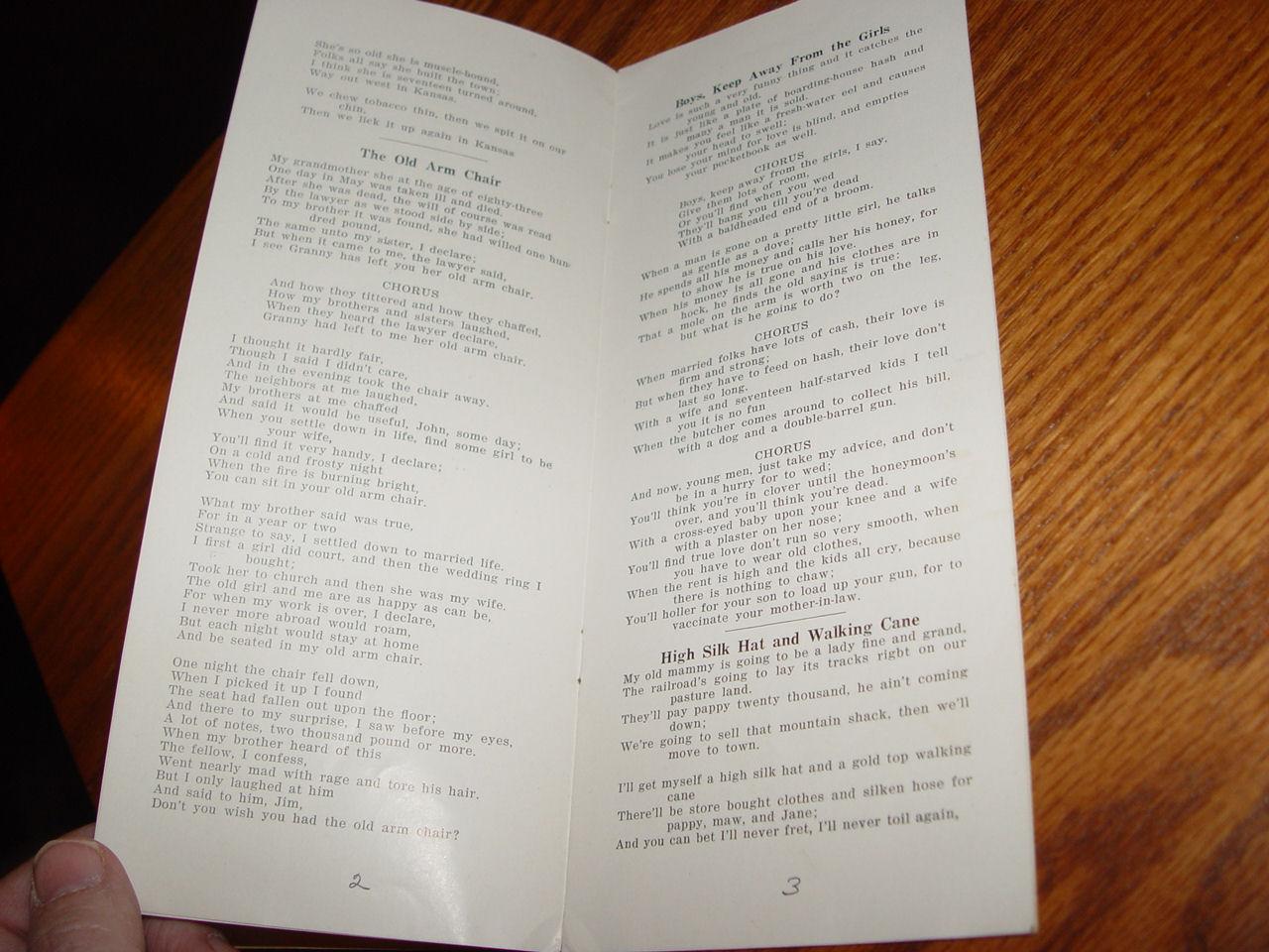 Rare Fargo ND                                         Radio Station Program Go-Far Old                                         Timer Song booklet ~ McCracken                                         Studio