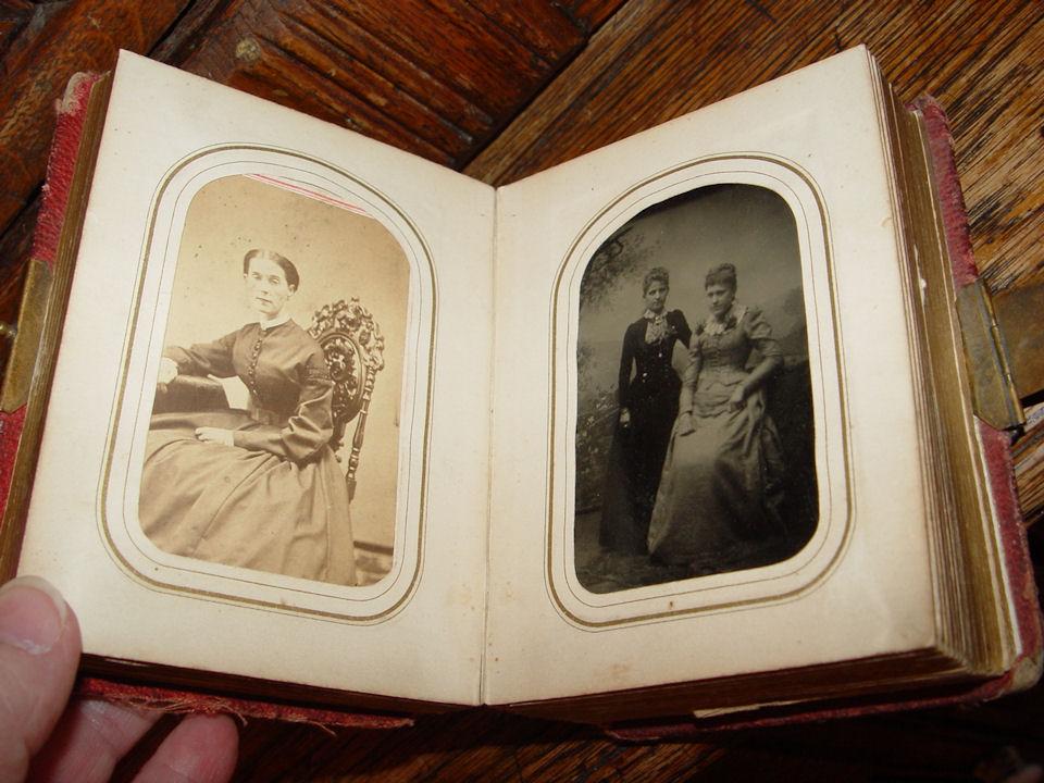 Civil War                                                           Era Mid 19th C                                                           Photo Album                                                           Tin types.                                                           CDV's Lake                                                           City MN