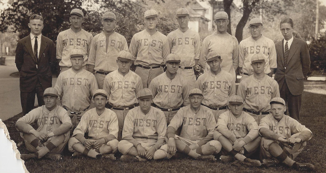 Orig.                                                           Rare 'West'                                                           Baseball Team                                                           Players 1920s                                                           Uniforms                                                           College / Town                                                           Wisconsin ?